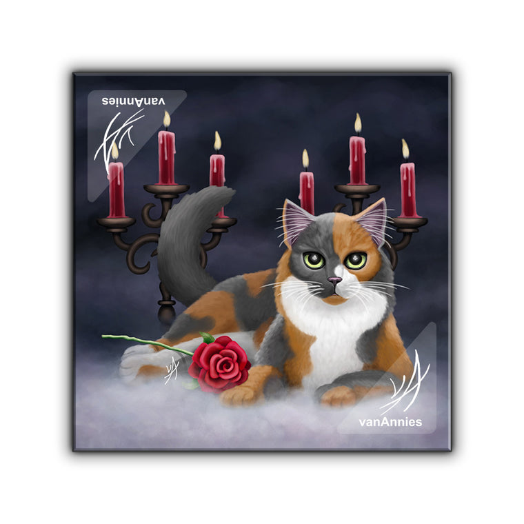 Phantom of the Opera Cat Wrapped Canvas Print