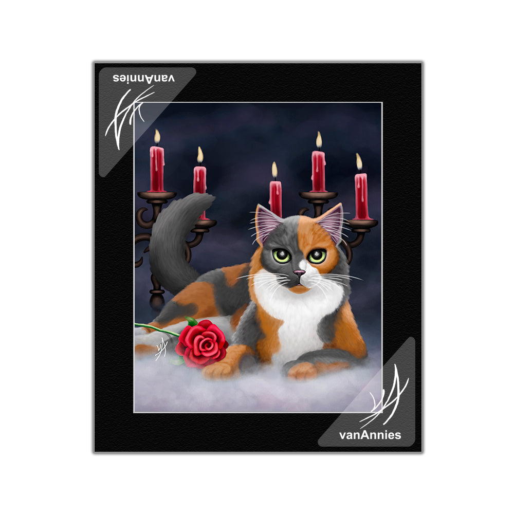 Phantom of the Opera Cat Matted Print