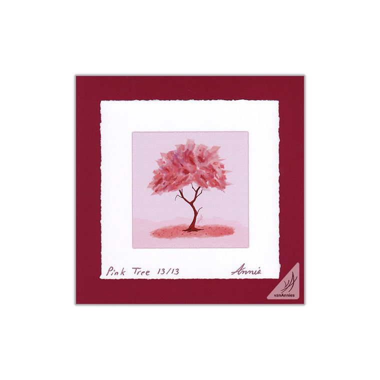 The Pink Tree 8x8 Deckle Edge Print