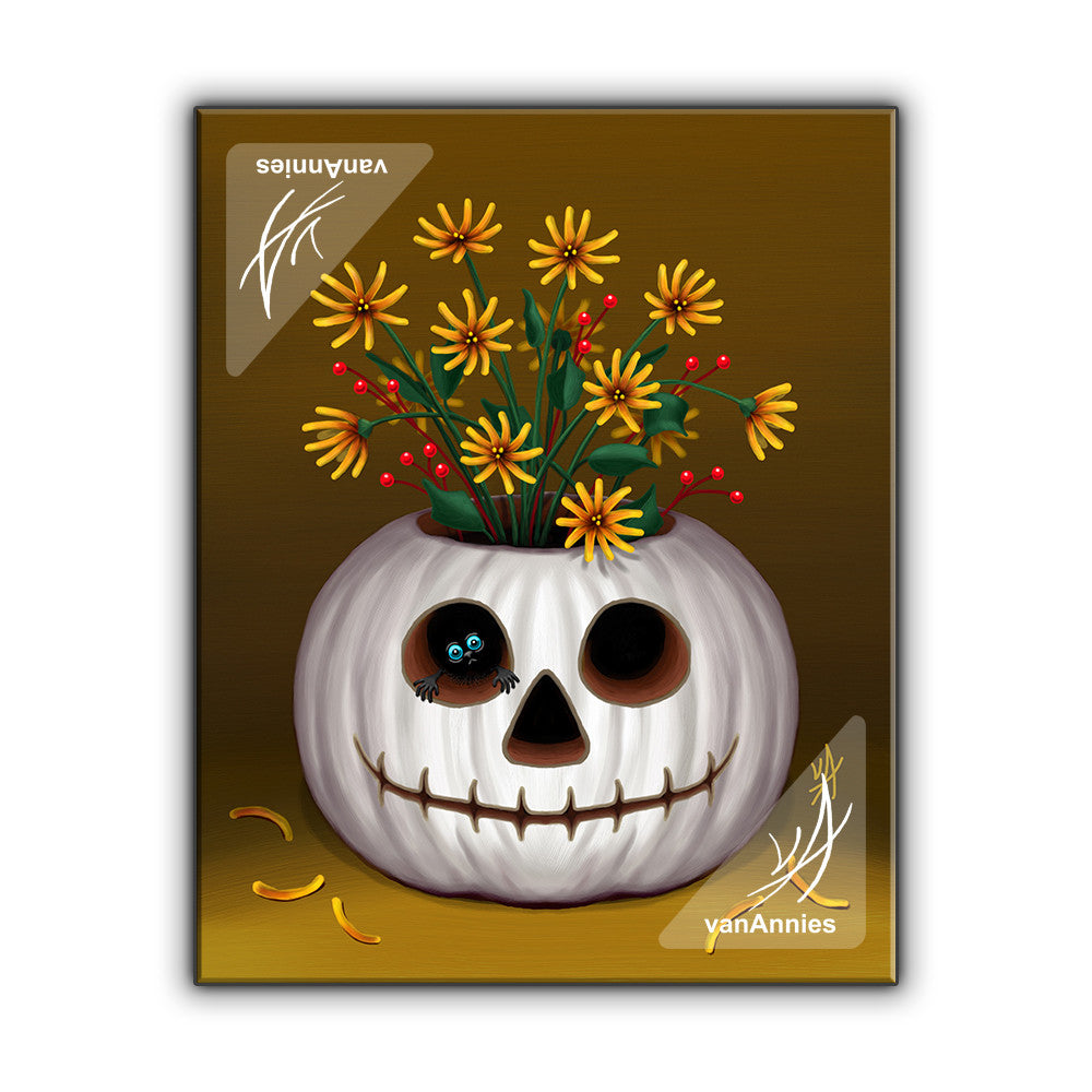 Pumpkin Peeper Wrapped Canvas Print