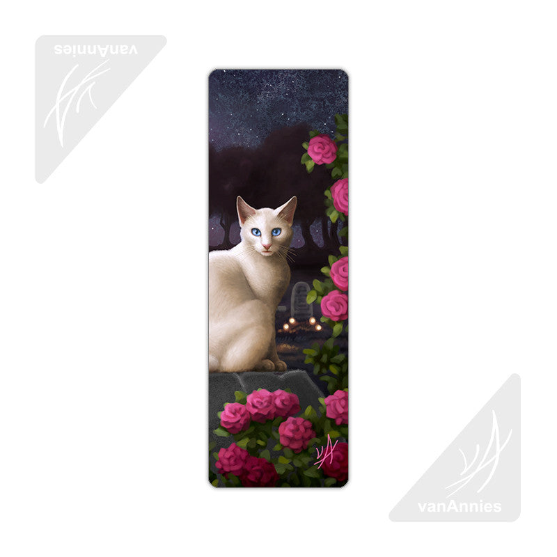 Rendezvous (Cat in Cemetery) Metal Bookmark