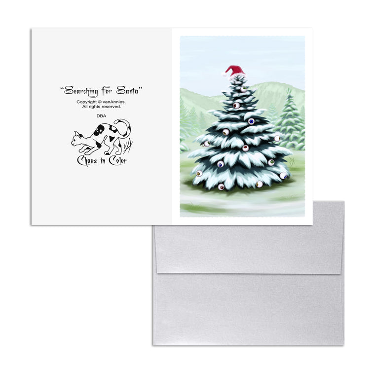 Searching for Santa (Eyeball Spruce) 5x7 Art Card Print