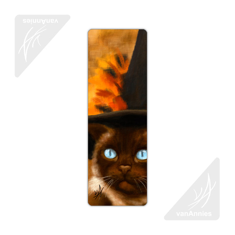 Siamese Witch Cat Metal Bookmark
