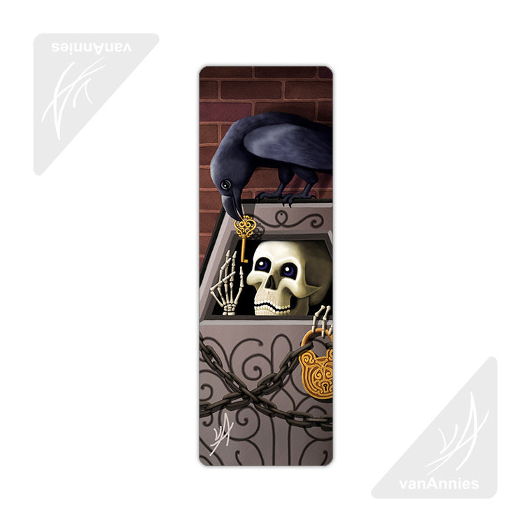 Skeleton Key (With Raven) Metal Bookmark