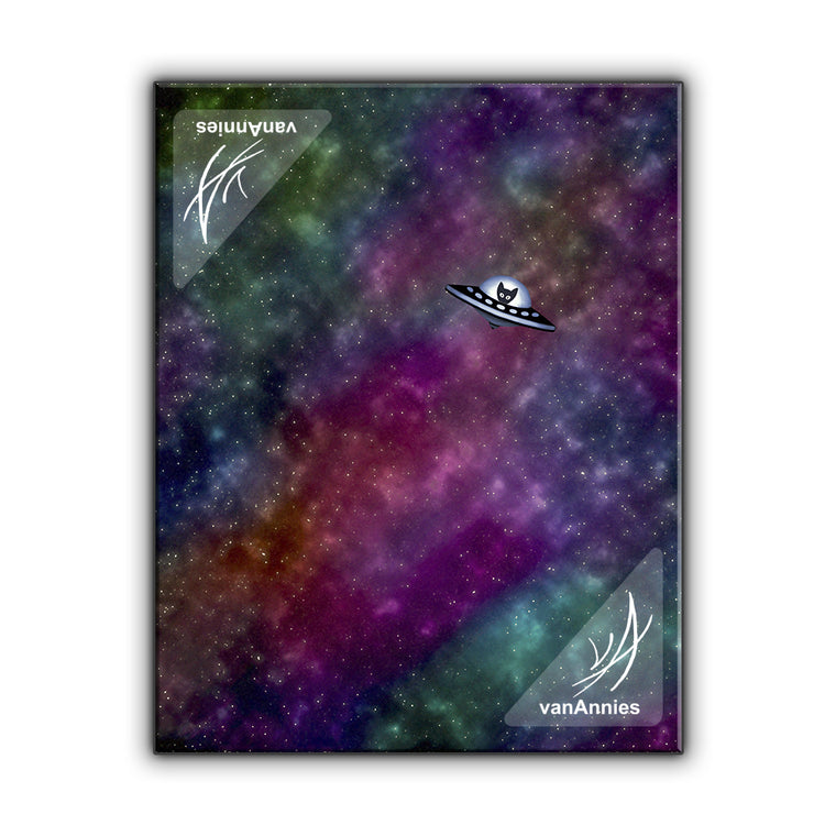 Spaceship Kitten Wrapped Canvas Print
