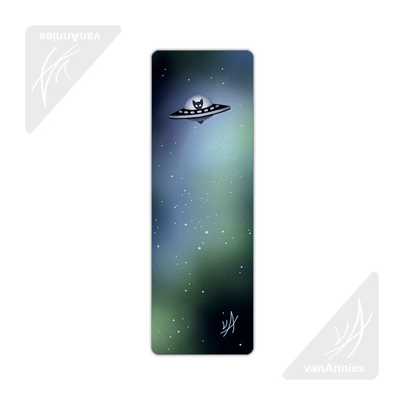 Spaceship Kitten Metal Bookmark