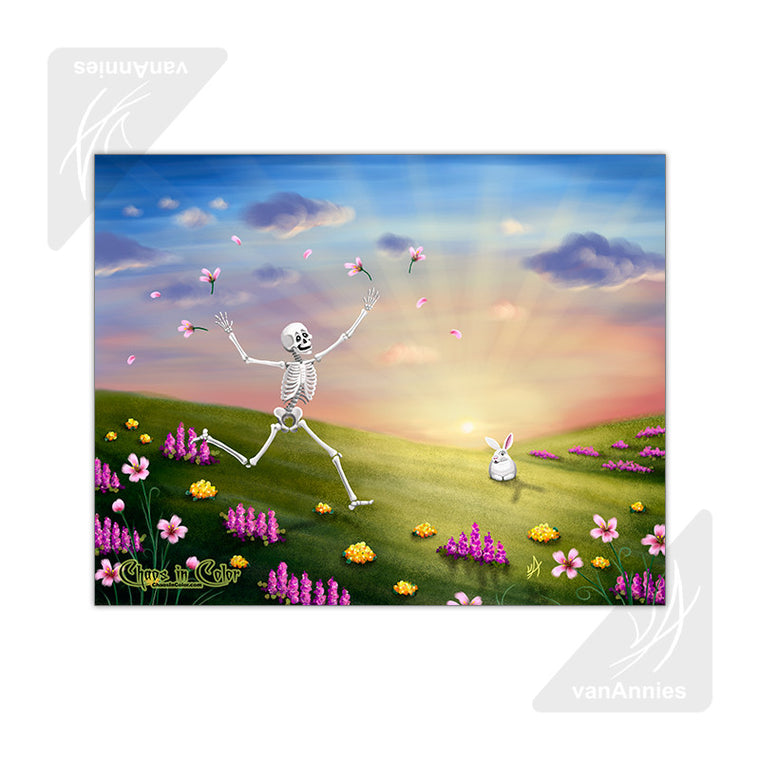 Spring Fling (Easter Skeleton) 11x14 Poster