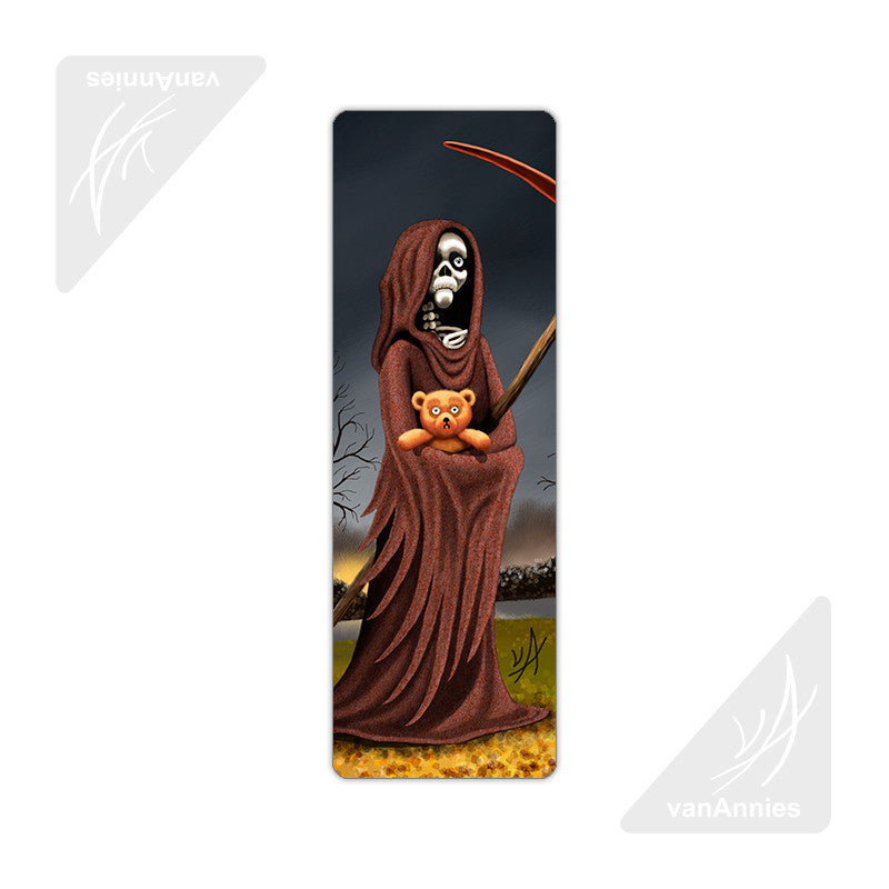 Teddy Bear with the Reaper Metal Bookmark