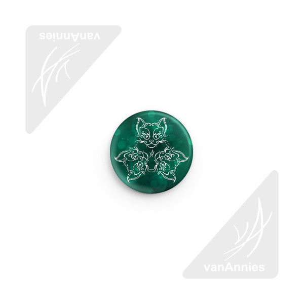 Tri-Cat Blue/Green Pin-back Button