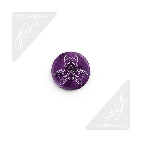 Tri-Cat Deep Purple Pin-back Button