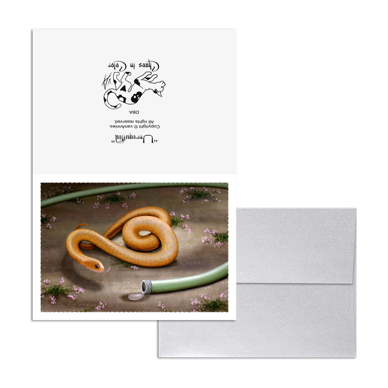 Unrequited (Garden Snake with Hose) 5x7 Art Card Print