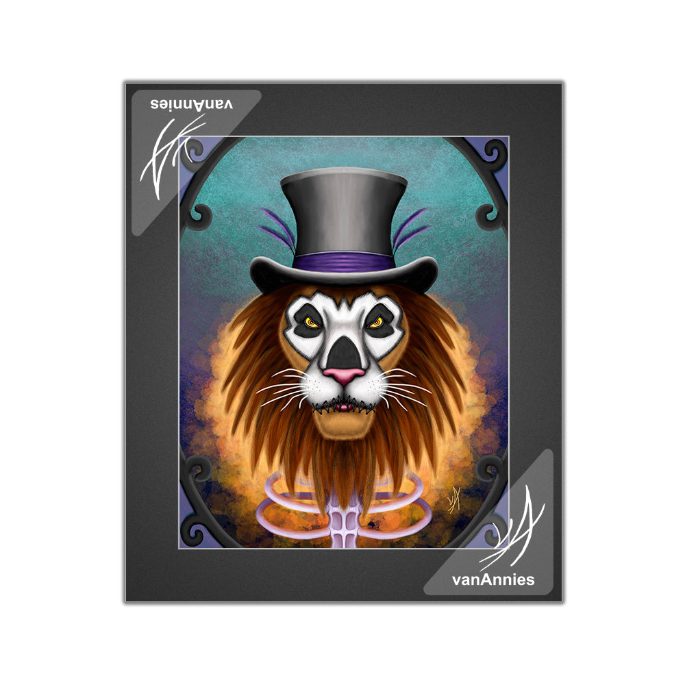 Voodoo Lion Matted Print