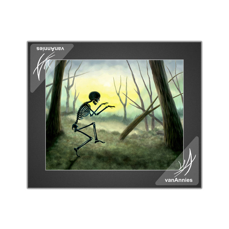 Vorspiel the Creeping Skeleton Matted Print