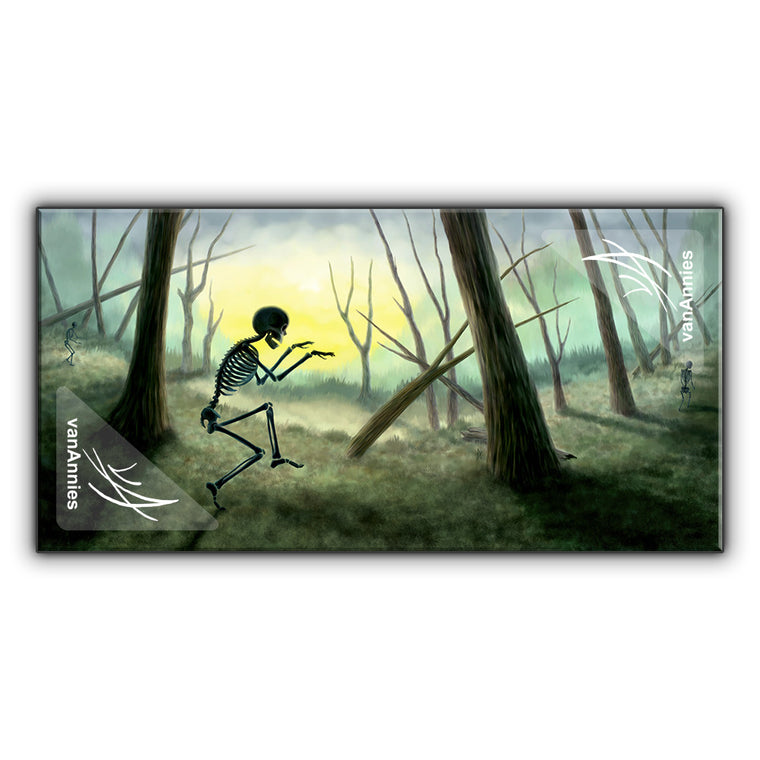 Vorspiel the Creeping Skeleton Wrapped Canvas Print