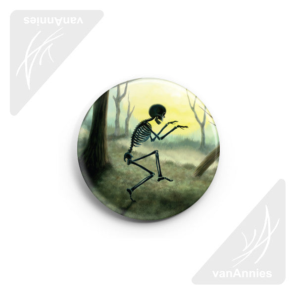 "Vorspiel Creeping Skeleton 2.25"" Pin-back Button"