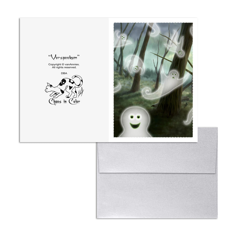 Vorspookum (Ghosts in Forest) 5x7 Art Card Print