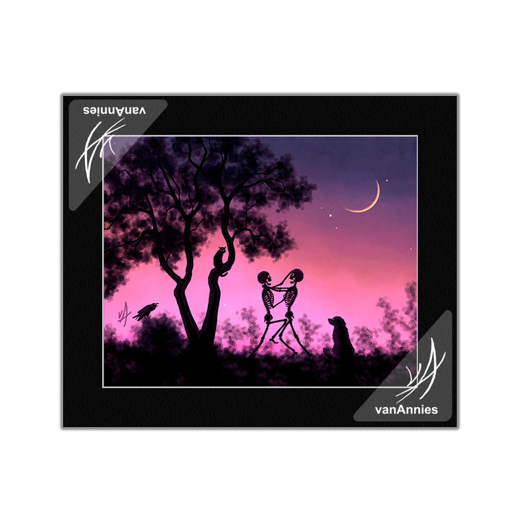 Young Moon Melee Matted Print