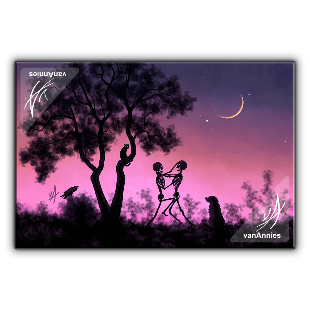 Young Moon Melee Wrapped Canvas Print