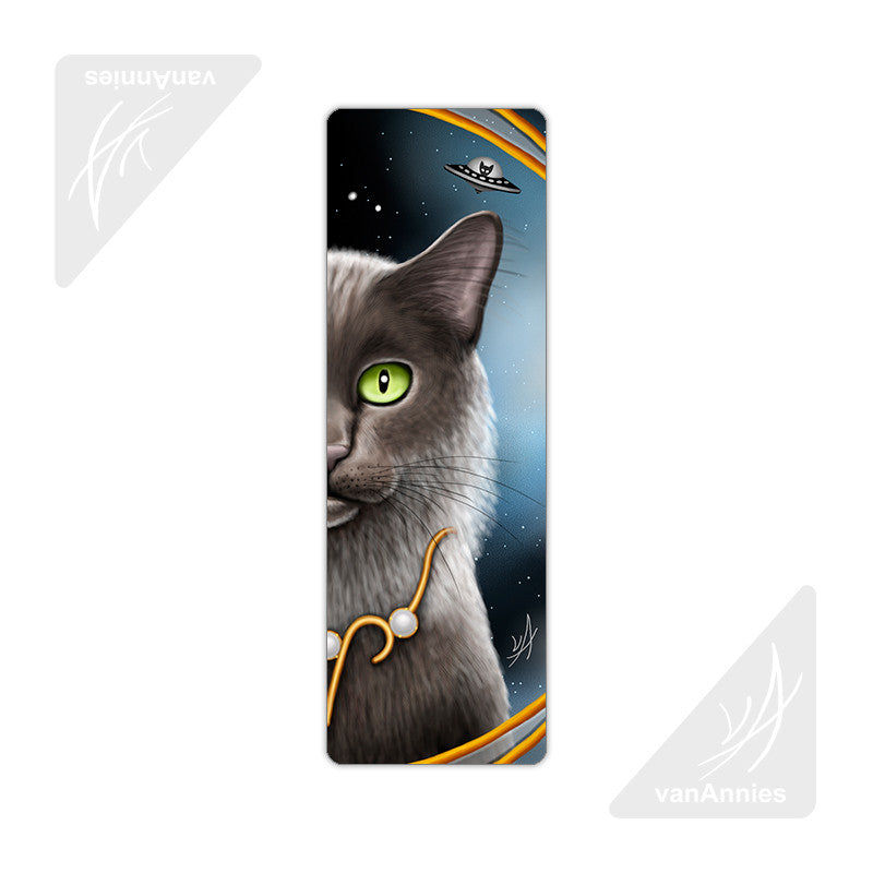 Zodiac Cat Aries Metal Bookmark