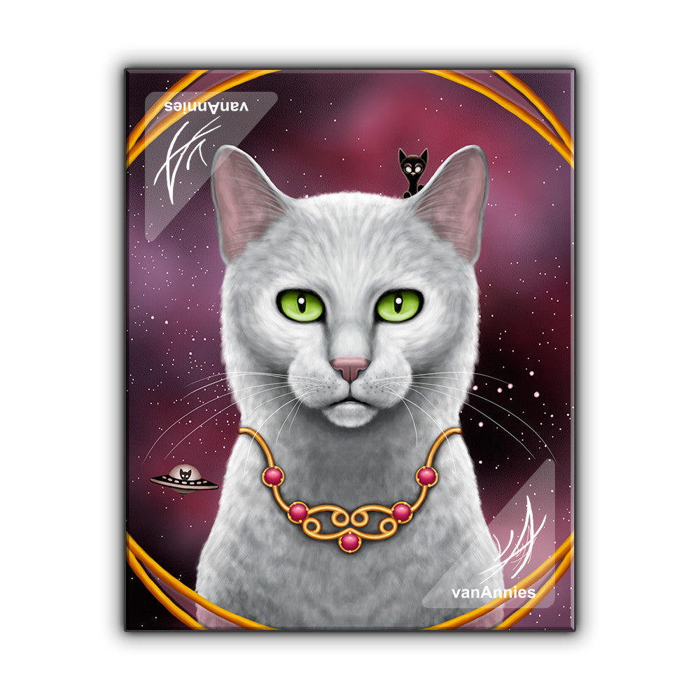Zodiac Cat Cancer with July Birthstone Wrapped Canvas