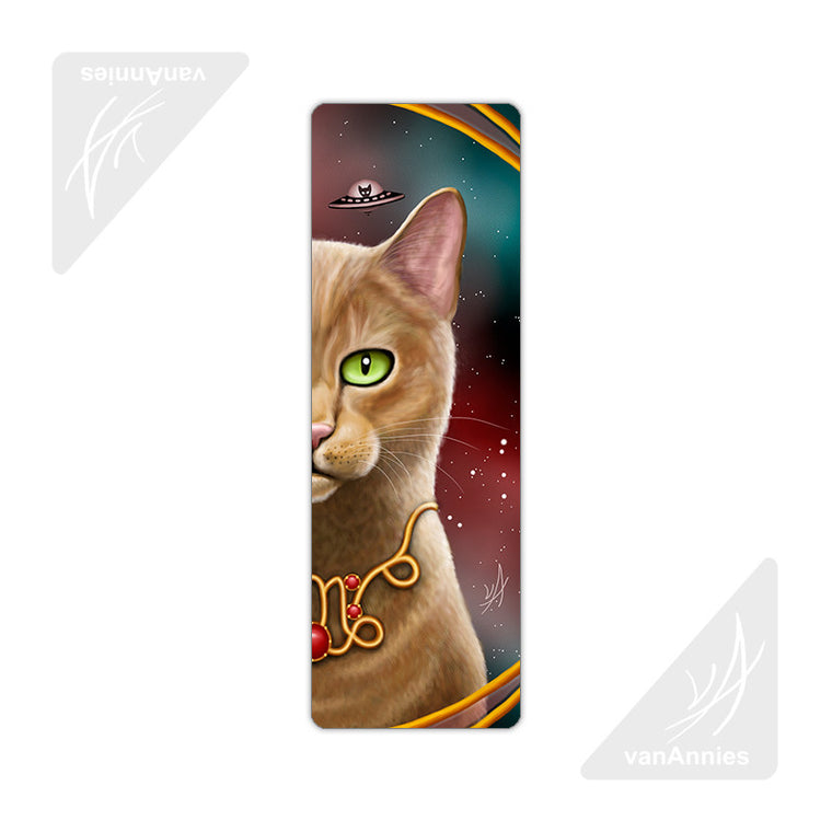 Zodiac Cat Capricorn Metal Bookmark