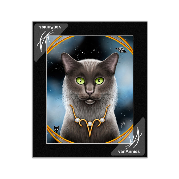 Zodiac Cat Aries Matted Print
