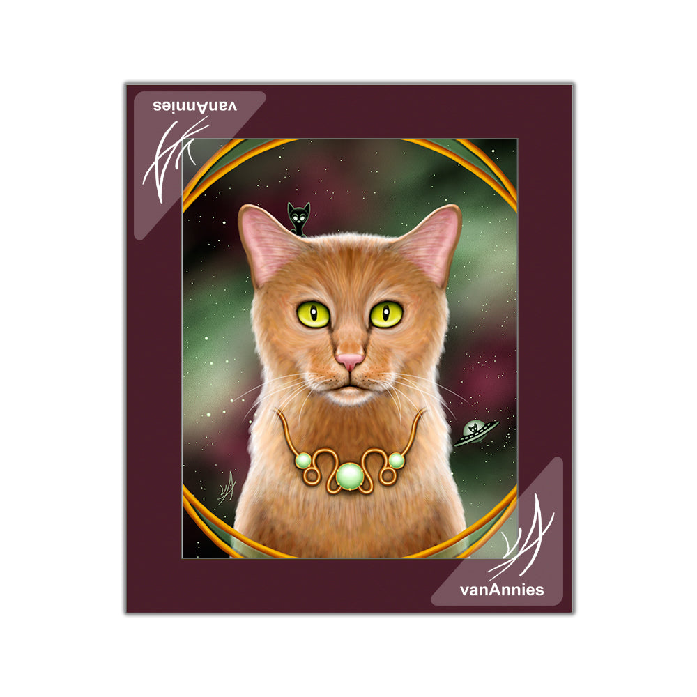 Zodiac Cat Leo Matted Print