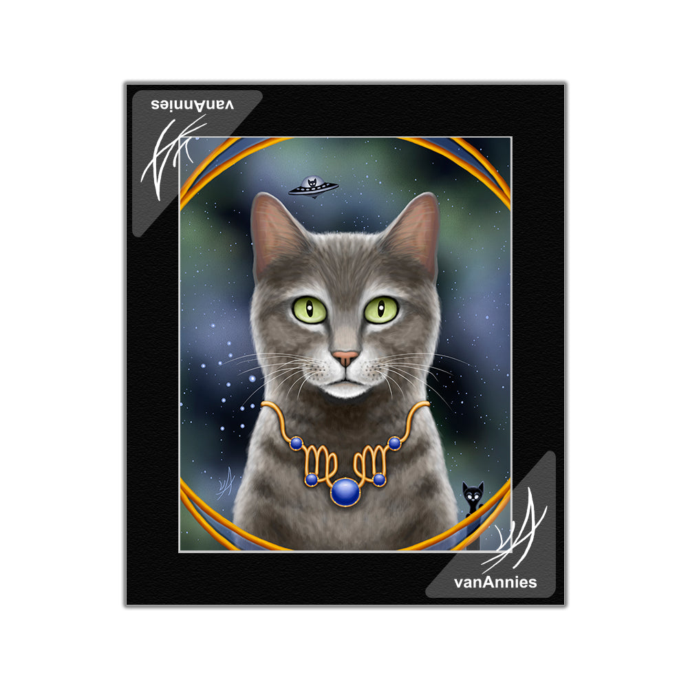 Zodiac Cat Virgo Matted Print