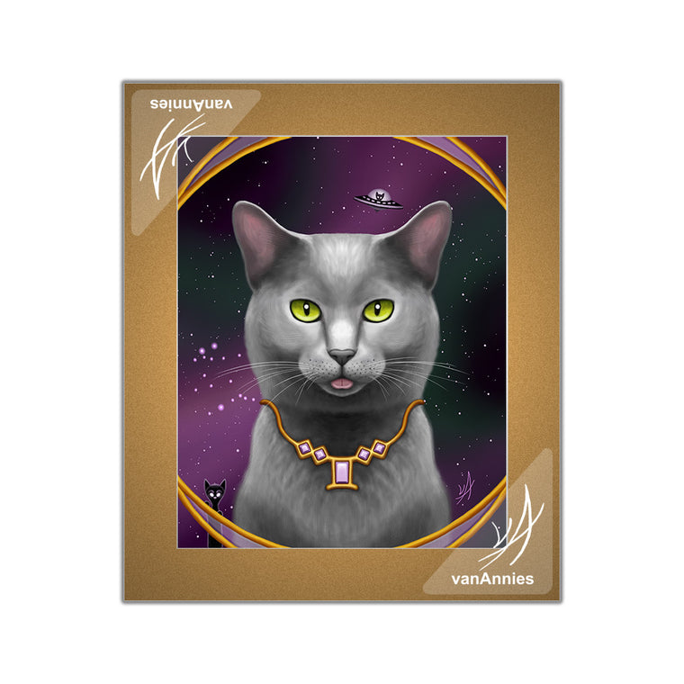 Zodiac Cat - Gemini / June Matted Print