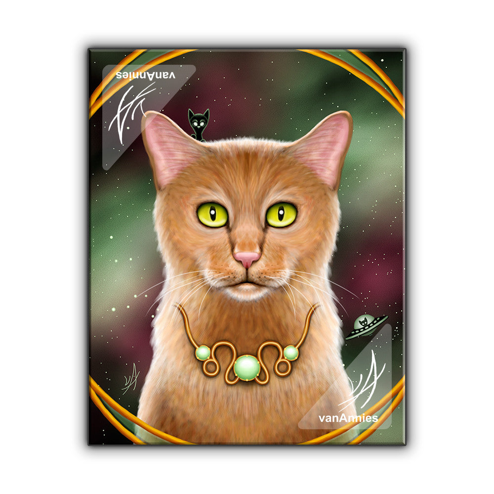 Zodiac Cat Leo with August Birthstone Wrapped Canvas