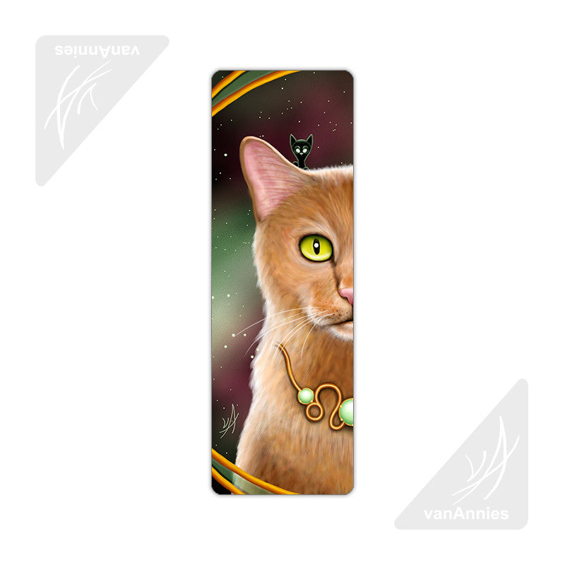Zodiac Cat Leo Metal Bookmark