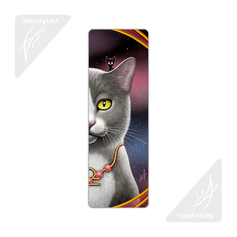 Zodiac Cat Libra Metal Bookmark