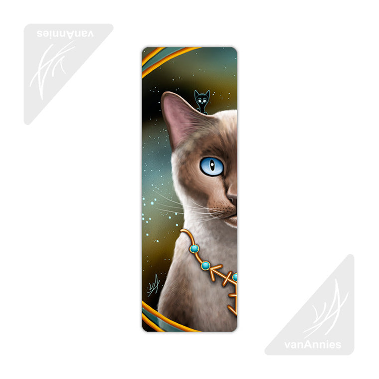Zodiac Cat Sagittarius Metal Bookmark