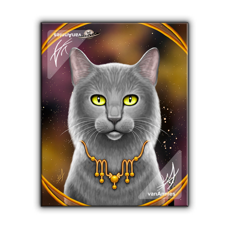 Zodiac Cat Scorpio with November Birthstone Wrapped Canvas