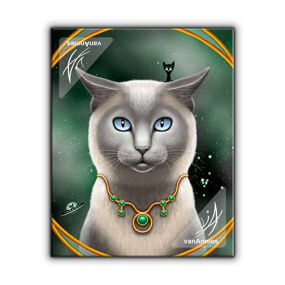 Zodiac Cat Taurus with May Birthstone Wrapped Canvas