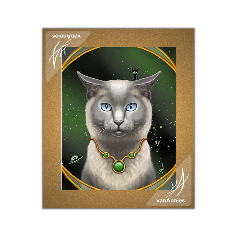 Zodiac Cat - Taurus / May Matted Print