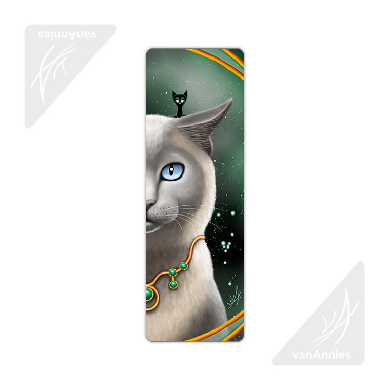 Zodiac Cat Taurus Metal Bookmark