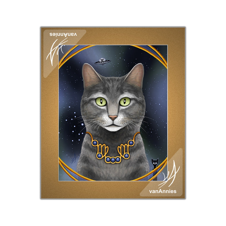 Zodiac Cat - Virgo / September Matted Print