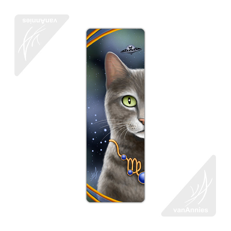 Zodiac Cat Virgo Metal Bookmark
