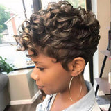 Gorgeous Short Curly Tapered African American Wig