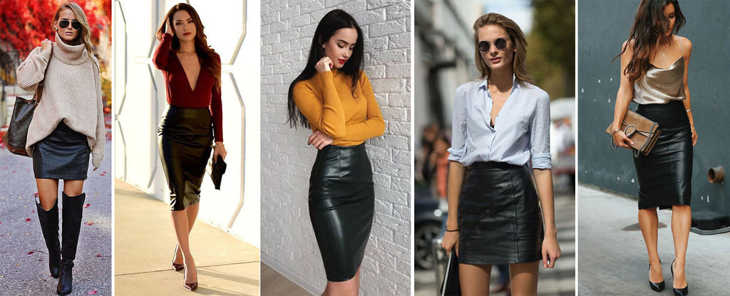 different style with leather dress