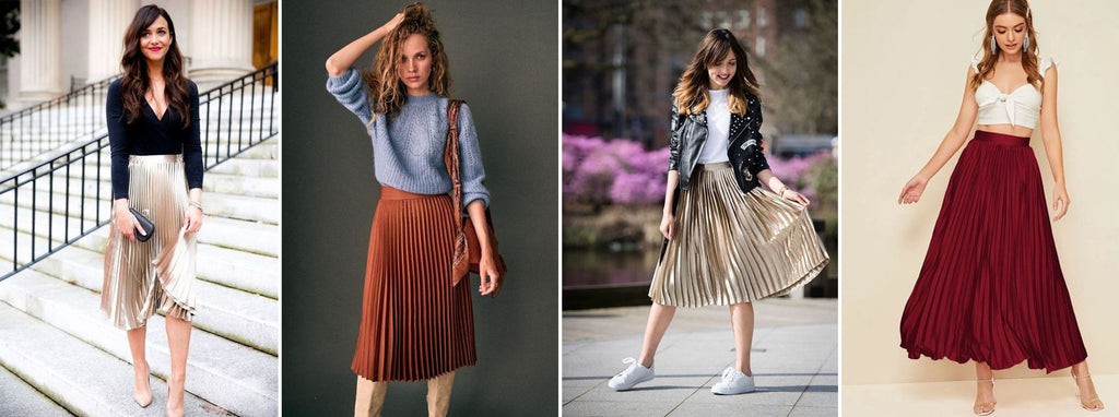 Top with pleated skirts