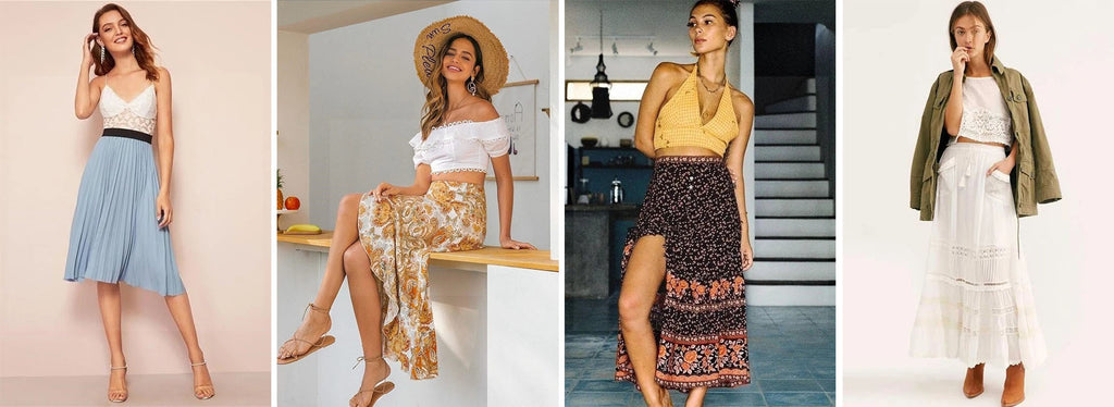 bohemian skirts and blouse