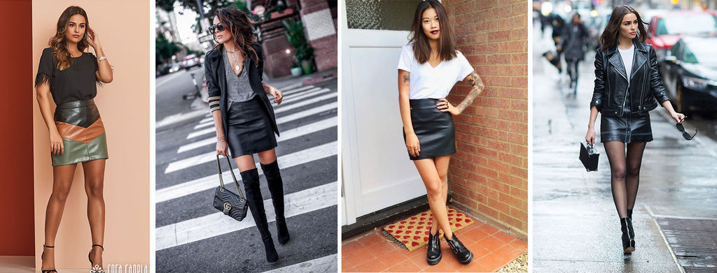 dress style with colored leather dress