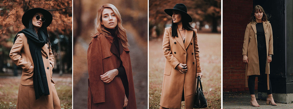 Trench coat with black dress