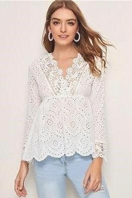 Blouse Blanche Hippie Chic Charmante