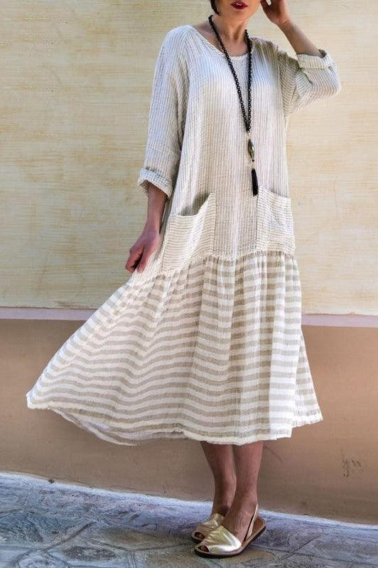 Longue Robe Boheme Simple de bohemienne