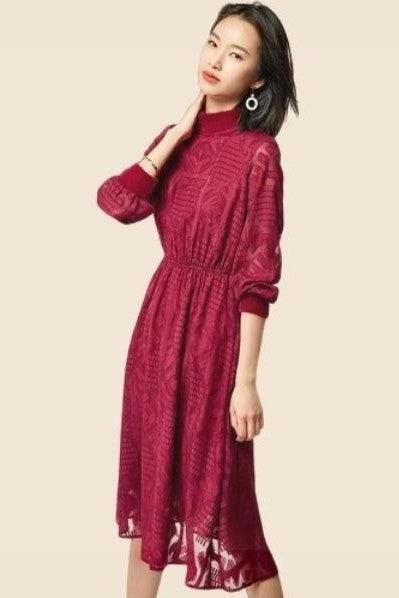 Robe Boheme Chic Rouge hippie
