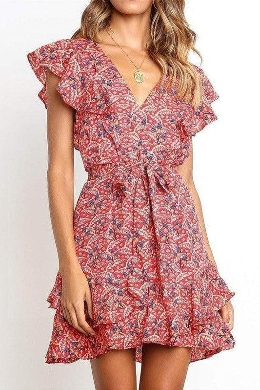 Robe Cocktail Boheme Chic Courte boho