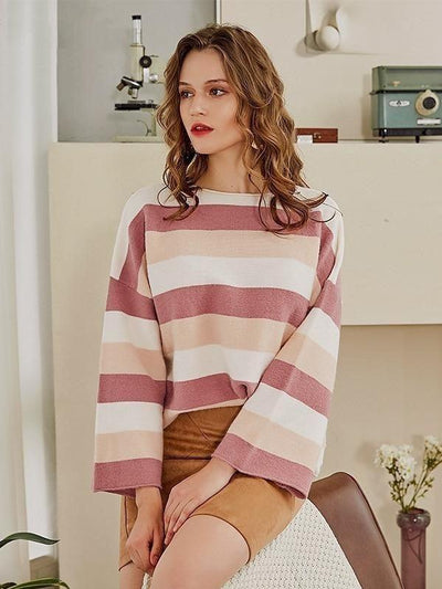 jolie pull boheme tons rose mode